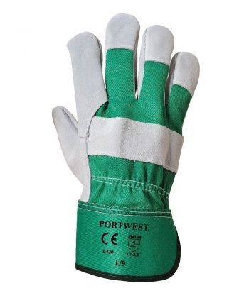 PPG Workwear Portwest Premium Chrome Rigger Glove A220 Green Colour Back View