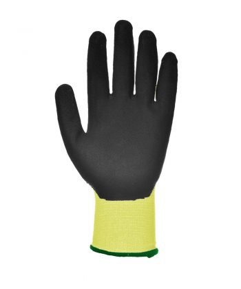 PPG Workwear Portwest Vis-Tex Cut Level 5 Glove A625 Yellow and Black Colour Palm View