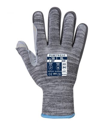 Portwest Razor-Lite Cut Level 5 Glove A630 Grey Colour Back View