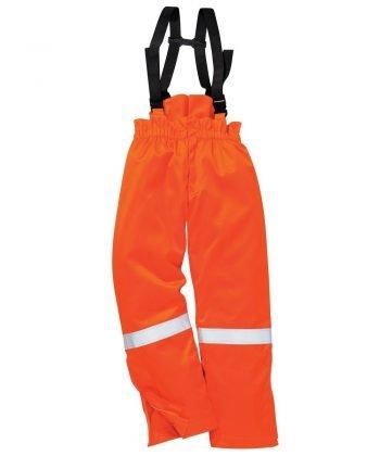 PPG Workwear Portwest Flame Retardant Anti-Static Winter Salopettes FR58 Orange Colour