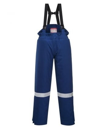 PPG Workwear Portwest Flame Retardant Anti-Static Winter Salopettes FR58 Royal Blue Colour
