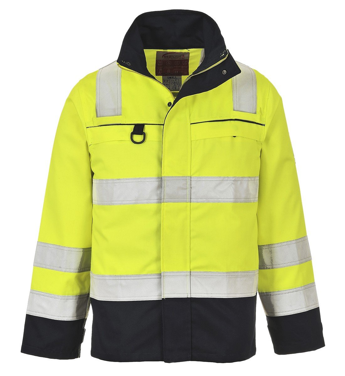 e4ba733972bf Portwest Hi Vis Multi-Norm FR Anti-Static Jacket FR61 Yellow and Navy Blue