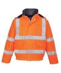 f20882c8a87e PPG Workwear Portwest Bizflame Rain FR Lined Bomber Jacket S773 Orange  Colour