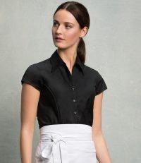 9386a8fd Bargear Ladies Short Sleeved Mandarin Collar Bar Shirt (KK736 ...